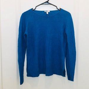Eileen Fisher Blue Linen Top XS